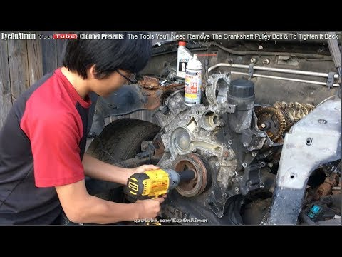 How To Remove Stubborn Crankshaft Pulley Bolt And The Tool You'll Need To Tighten It Back To Specs