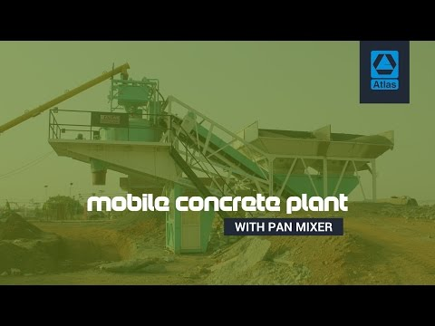 Ready mix concrete plant India | Concrete batching plant with pan mixer