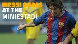 LEO MESSI   Goals at the Miniestadi