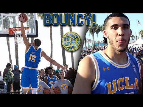 Liangelo Ball SHOWING OFF IMPROVED BOUNCE at UCLA Practice in VENICE BEACH!