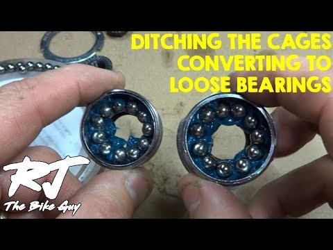 Replace Caged Bearings With Loose Bearings In Bottom Bracket Overhaul