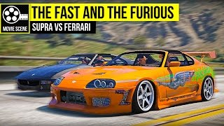 Grand Theft Auto 5 - The Fast and the Furious - Supra VS Ferrari