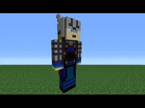 Minecraft 360: How To Make A Thor Statue (The Avengers)