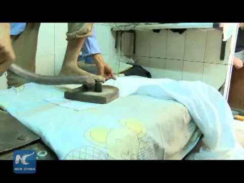 Leg-ironing -- a disappearing traditional business in Egypt