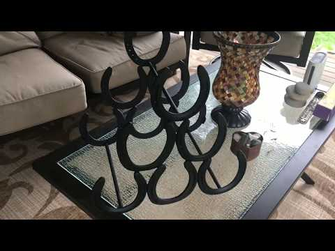 How to Weld a. Horseshoe Wine Rack from Old Horseshoes