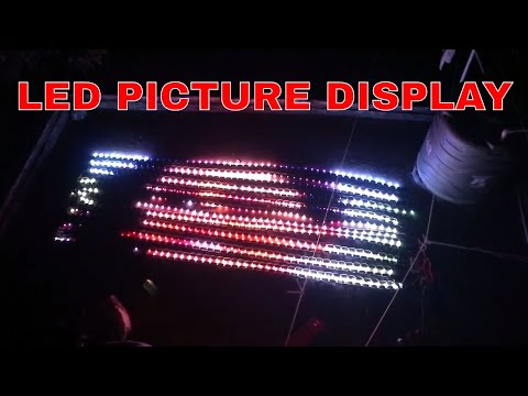 Homemade rgb led display for decoration