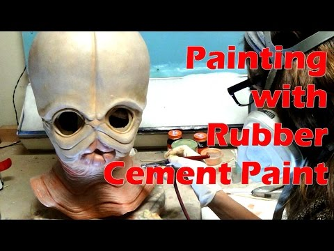 Painting with Rubber Cement Paint