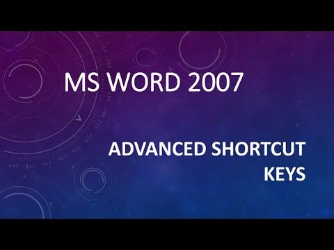 MS WORD ADVANCE SHORTCUT KEYS