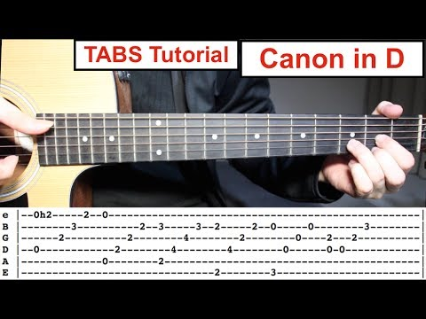 Canon in D | Fingerstyle TABS Guitar Lesson (Tutorial) How to play Canon in D with Tabs