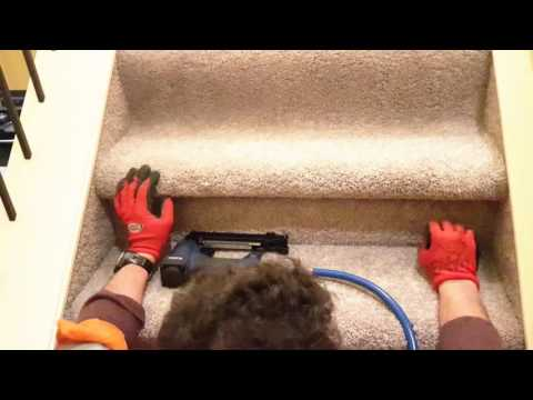 DIY how to replace carpet on stairs using a model