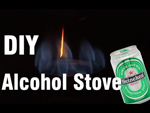 wow. Make an alcohol stove is very easy with heineken 🔆