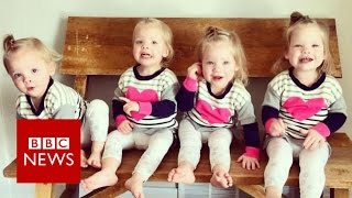 Quadruplets: Mum with four two-year-olds - BBC News