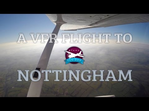 A VFR Flight To Nottingham | ATC Audio