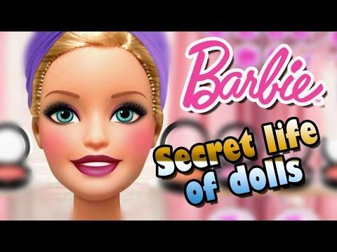 Barbie Dress Up game - Secret life of dolls. Barbie Make Up games for girls