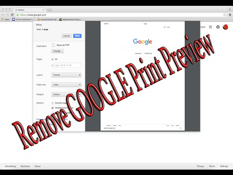 How to remove Google Print Preview - Windows