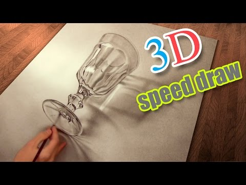 Drawing 3D (how to draw) realistic/ Speed Painting timelapse