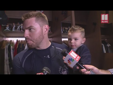 Xxx Mp4 Lights Mics And Bobbleheads Freddie Freeman 39 S Son Gives Color Commentary During Postgame Interview 3gp Sex