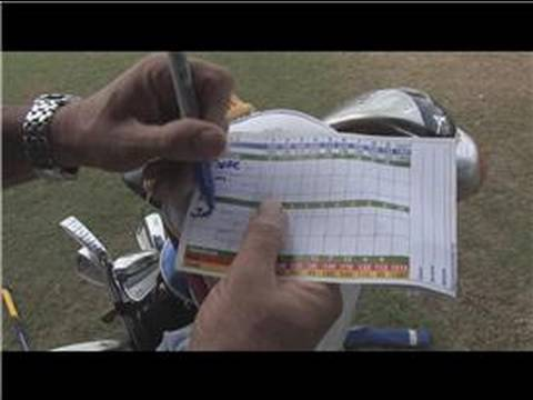 Golfing Tips : How to Fill in a Golf Scorecard