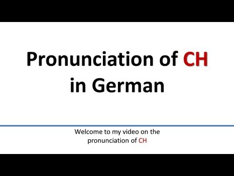 Verbalästhet explains German pronunciation rules