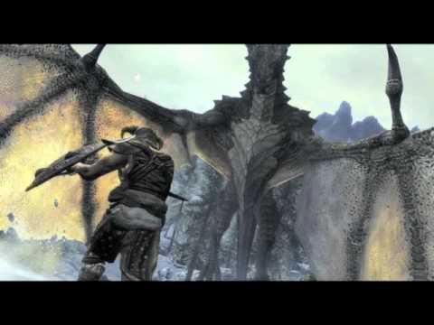 Flying a dragon in Skyrim