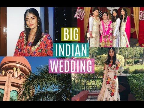 INDIA VLOG PART 1: BIG INDIAN WEDDING | Kim Mann