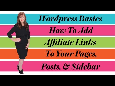 How To Add Affiliate Links To Your Wordpress Website