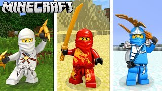 Become the LEGO NINJAGO in Minecraft!