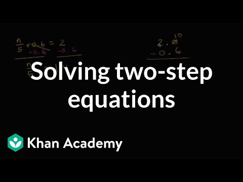 How to solve two-step equations with decimals and fractions | 7th grade | Khan academy
