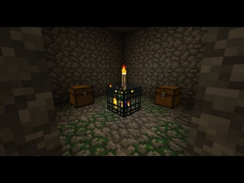 How to make a XP farm using a spider spawner (Spider Dungeon)