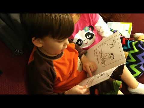 Shane reading (age 4)