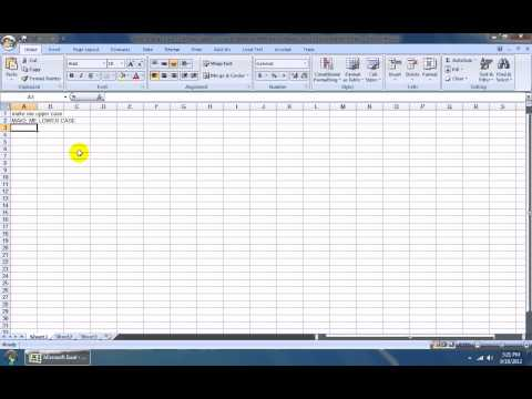 How To Use Excel Change Case To Proper, Upper, Lower & Sentence Software