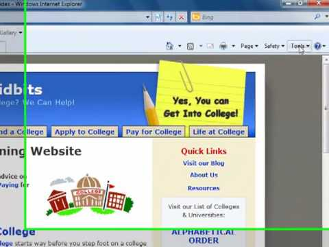 How to Change Browser Home Page in I.E. Internet Explorer