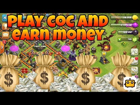 HOW to earn money with play game and live stream android phone clash of clans (hindi)sam1735