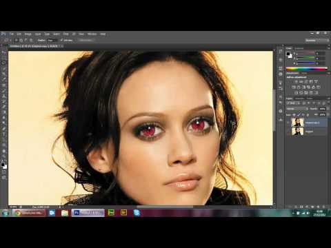 Sexy Lady gets Devil eyes in Photoshop CS6 tutorial