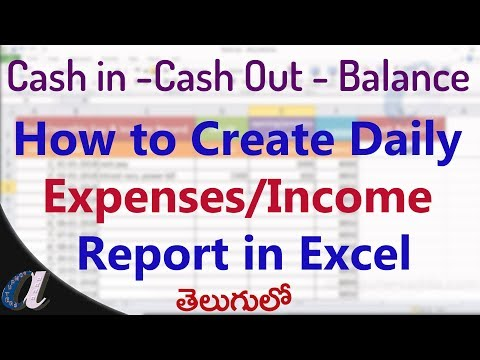 How to Create Daily Expenses/Incomes Report in Ms-Excel || computersadda.com