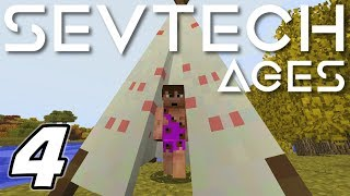 Minecraft Sevtech: Ages - GRINDING LIKE A CAVEMAN (Modded