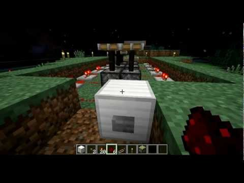How to make an piston engine in Minecraft