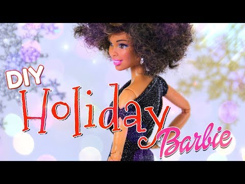 DIY - How to Make: Holiday Barbie Dress PLUS Snowflake Backdrop