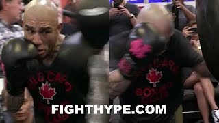 MIGUEL COTTO HIGHLIGHTS FROM FINAL MEDIA WORKOUT OF CAREER; STILL A LOT LEFT IN THE TANK