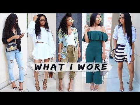 What I Wore   WEEKEND OUTFITS (lookbook)