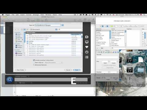 Apple iWork Pages- Page Layout Tutorial Pt1