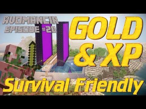 Minecraft: How to make a Gold Farm in Survival Mode   Gold Farm Tutorial   Avomancia Lets Play EP20