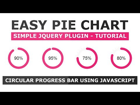 Animated Circular Progress Bar Using Easy Pie Chart Plugin - Create a Progress Bar With Javascript