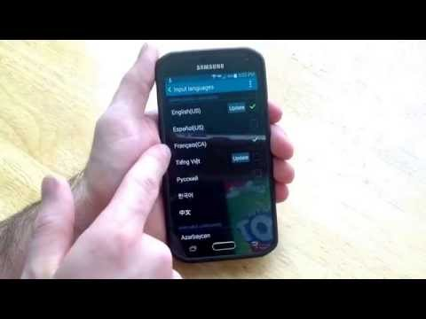 Samsung Galaxy S5 - How to add / remove a different language keyboard