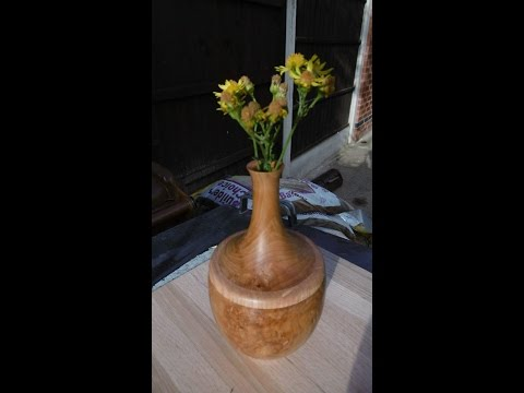 Lidded box / bud vase from Yew part 1 ( most )