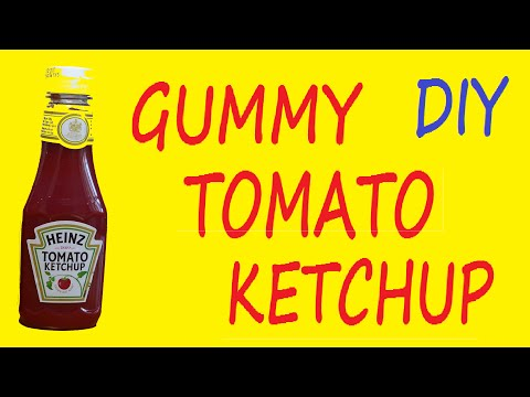 How to Make a Gummy Tomato Ketchup Bottle Jelly Jello DIY Recipe
