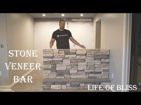DIY How To Stone Veneer Bar or Fireplace | El Durado Stone