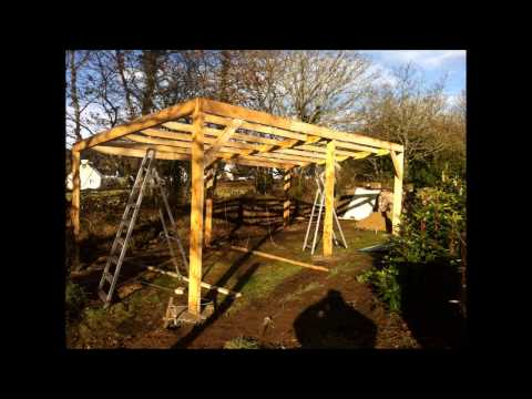 Building an outdoor tractor shelter part 2