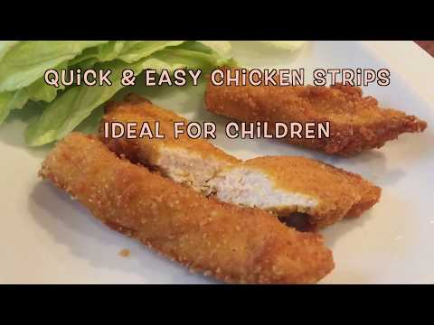 How to make quick and easy curry chicken strips , WARNING these taste amazing .