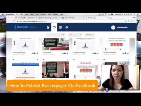Rocketpages - How to Publish on Facebook Fan Page